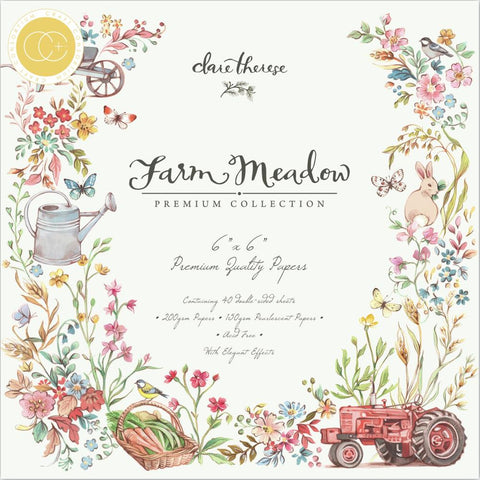 Craft Consortium Double-Sided Paper Pad 6in x 6in 40 pack - Farm Meadow By Clare Therese Gray