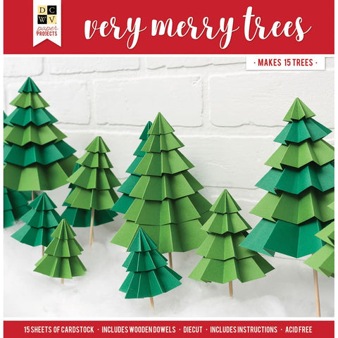 DCWV Paper Projects Very Merry Trees - Makes 15