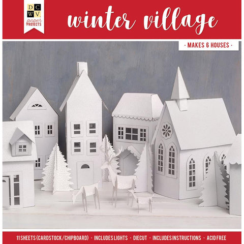 DCWV Paper Projects Winter Village - Makes 6 Houses