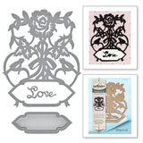 Spellbinders Shapeabilities Dies Rose Bird Topiary
