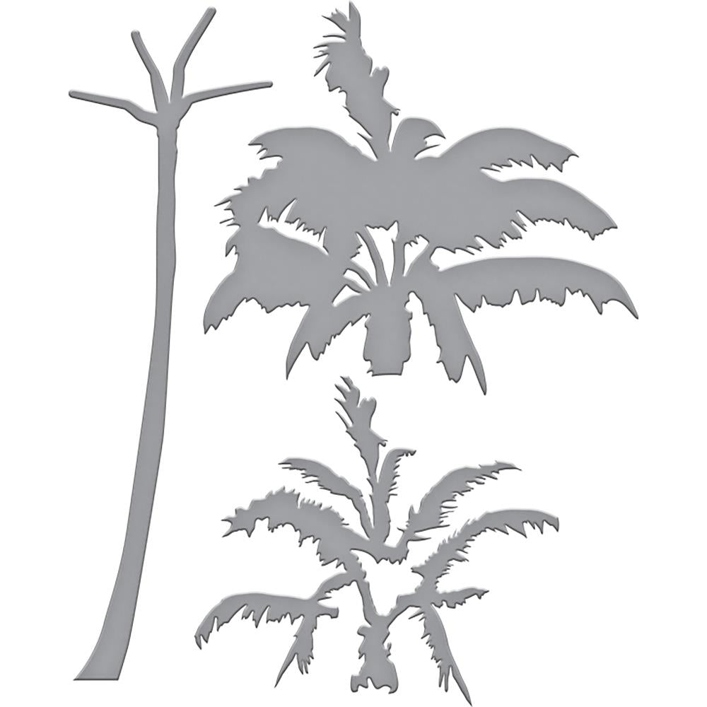 Spellbinders Indie Line Shapeabilities Dies Layered Palm Tree