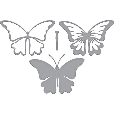 Spellbinders Indie Line Shapeabilities Dies Layered Butterfly