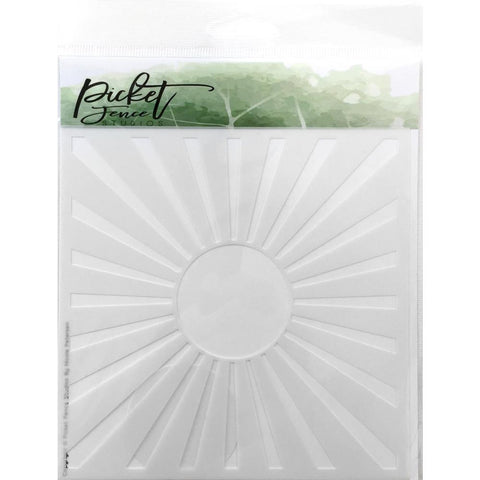 Picket Fence Studios Stencil 6 inch X6 inch Sunbeam - Stencil is approx. 5.5 x 5.5 inches.