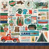 Summer Camp Cardstock Stickers 12X12 Elements