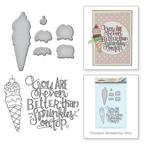 Spellbinders Stamp & Die Set By Tammy Tutterow Ice Cream Cone