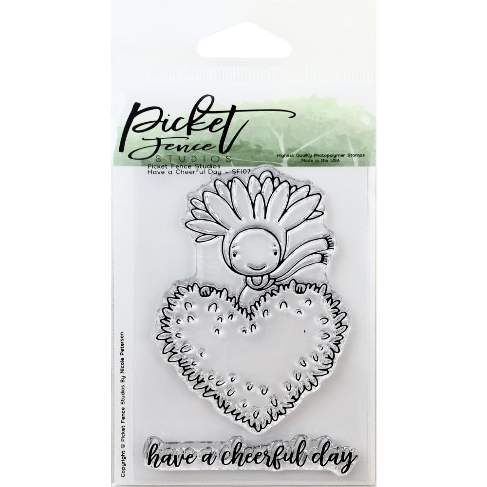 Picket Fence Studios 3X4 Stamp Set Have A Cheerful Day