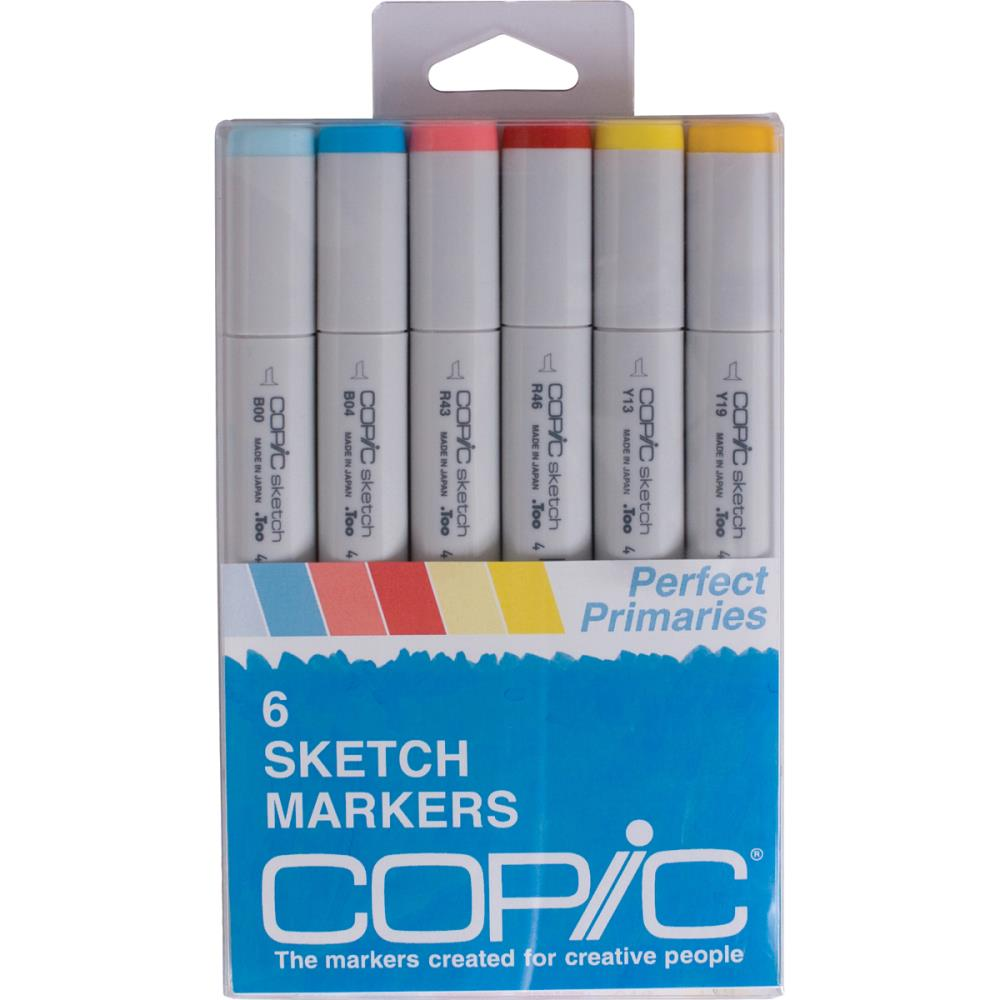 Copic Sketch Markers 6/Pkg - Perfect Primaries