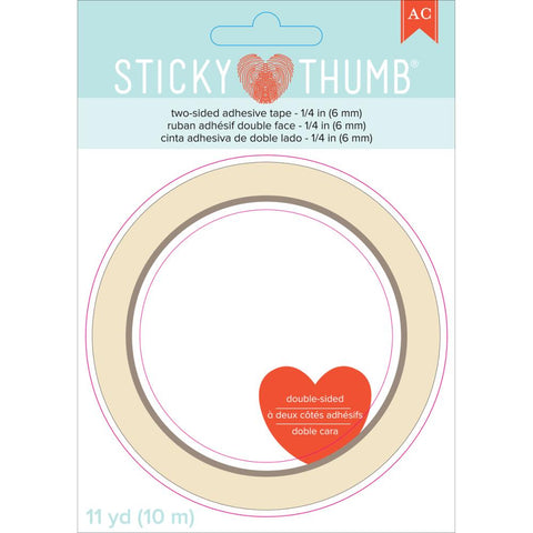 We R Memory Keepers - Sticky Thumb Double-Sided Tape .25 inch X11yd