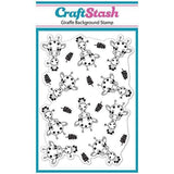 CraftStash A6 Background Stamp - Giraffe - Baby Shapes Stamps