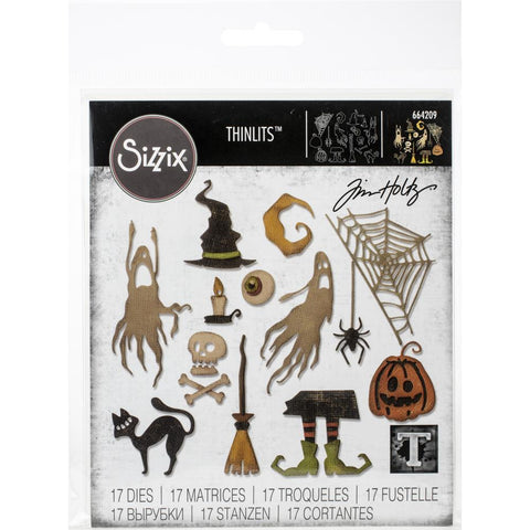 Sizzix Thinlits Dies - Frightful Things by Tim Holtz