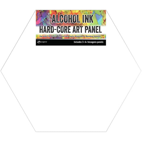 Tim Holtz Alcohol Ink Hard Core Art Panel 4X4 3/Pkg Hexagon