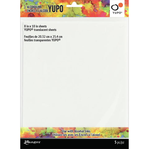 Tim Holtz Alcohol Ink Transucent Yupo Paper 104lb 5/Pkg 8X10