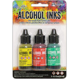 Tim Holtz Alcohol Ink .5oz 3/Pkg - Key West-Dandelion/Coral/Pistachio
