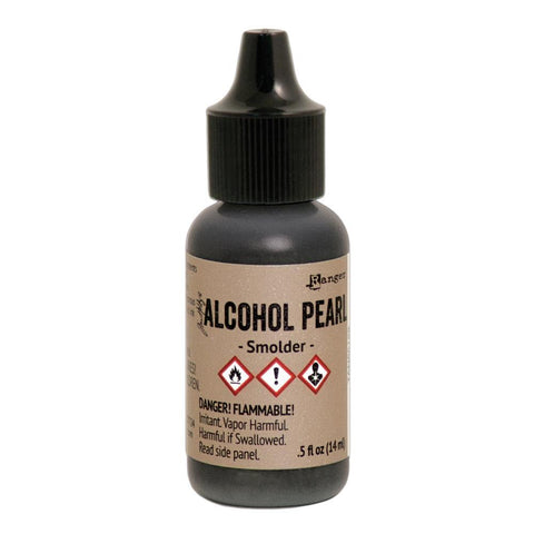 Tim Holtz Alcohol Pearls .05oz - Smolder