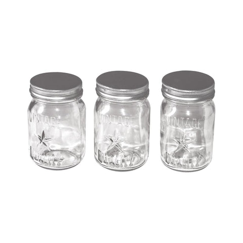 Idea-Ology Mini Glass Mason Jars 3/Pkg Clear 4X2.25