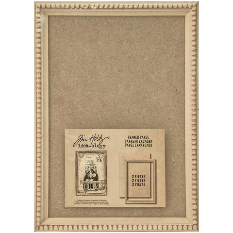 Idea-Ology Wooden Framed Panel 9 inch X6.5 inch Tan
