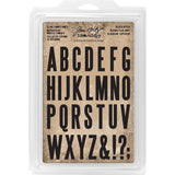 Tim Holtz - Idea-Ology - Cling Foam Stamps 31 pack Block Uppercase Alpha 1.5 inch