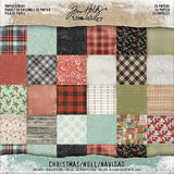 Idea-Ology Paper Stash Double-Sided Paper Pad 8 inch X8 inch 24 pack Christmas, 12 Designs/2 Each