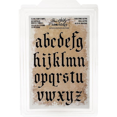Idea-Ology Cling Foam Stamps 26 pack Christmas Lowercase Alpha 1 inch To 1.75 inch