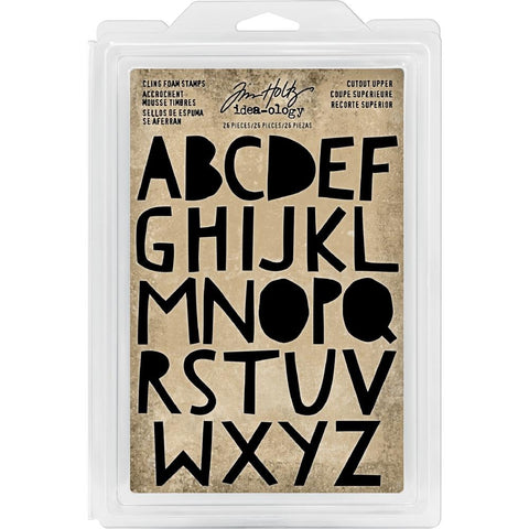 Idea-Ology Cling Foam Stamps 26 pack Cutout Uppercase Alphabet 1.25 inch
