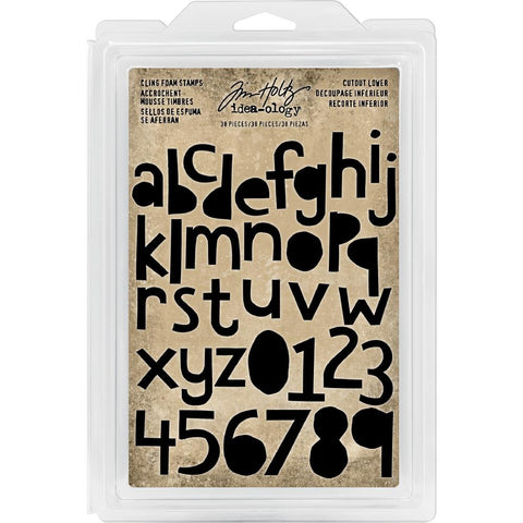 Idea-Ology Cling Foam Stamps 38 pack Cutout Lowercase Alpha & Numbers 1 inch -1.5 inch