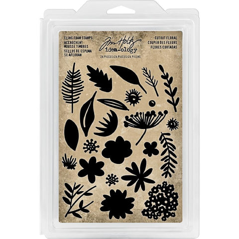 Idea-Ology Cling Foam Stamps 24 pack Cutout Floral