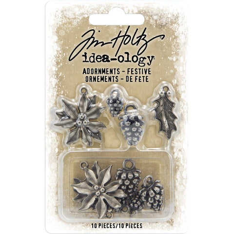 Idea-Ology Metal Adornments 10/Pkg Antique Nickel Festive