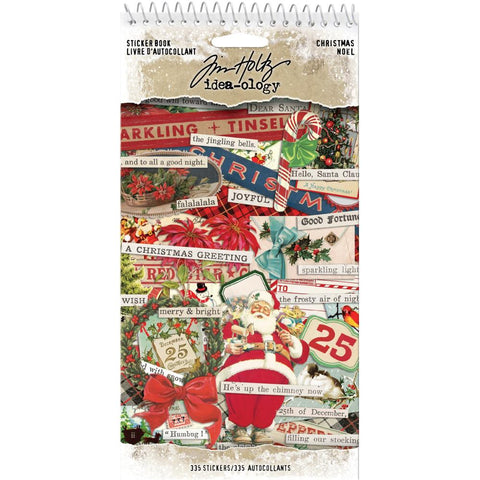 Idea-Ology Sticker Book 4.5X8.75 Christmas, 335/Pkg