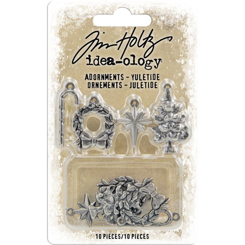 Idea-Ology Metal Adornments 10/Pkg Antique Nickel Yuletide