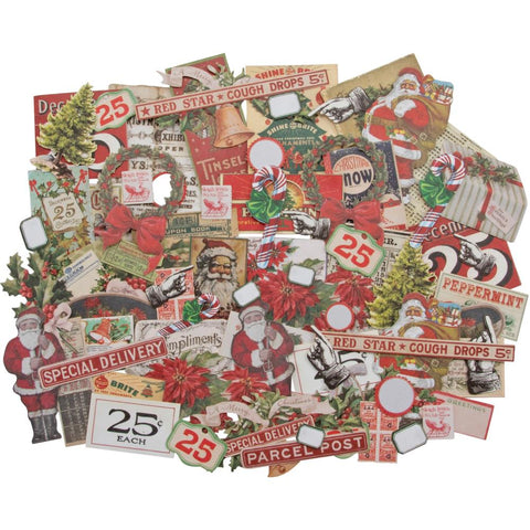 Idea-Ology Ephemera Pack 81/Pkg Snippets Tiny Die-Cuts/Christmas