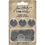 Tim Holtz Idea-Ology Metal Adornments 18 pack Thought Tokens
