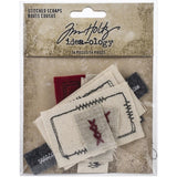 Tim Holtz Idea-Ology Stitched Scraps 14 pack