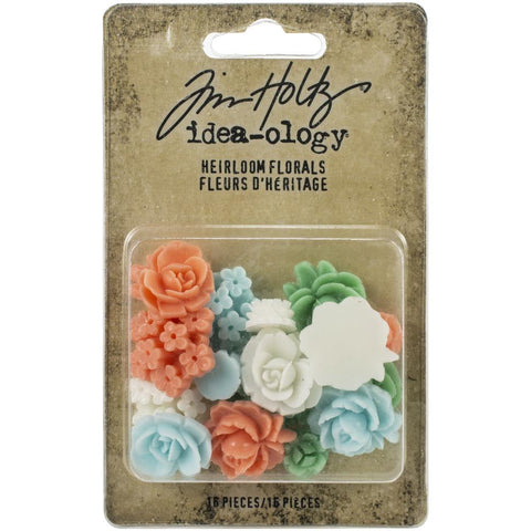 Tim Holtz Idea-Ology Heirloom Florals 16 pack