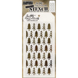 Tim Holtz Layered Stencil 4.125 inch X8.5 inch Pines