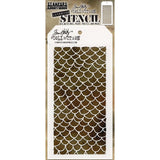 Tim Holtz Layered Stencil 4.125X8.5 Scales -Layered