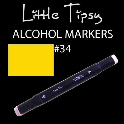 Little Tipsy Double Ended Alcohol Ink Marker - Colour - 34