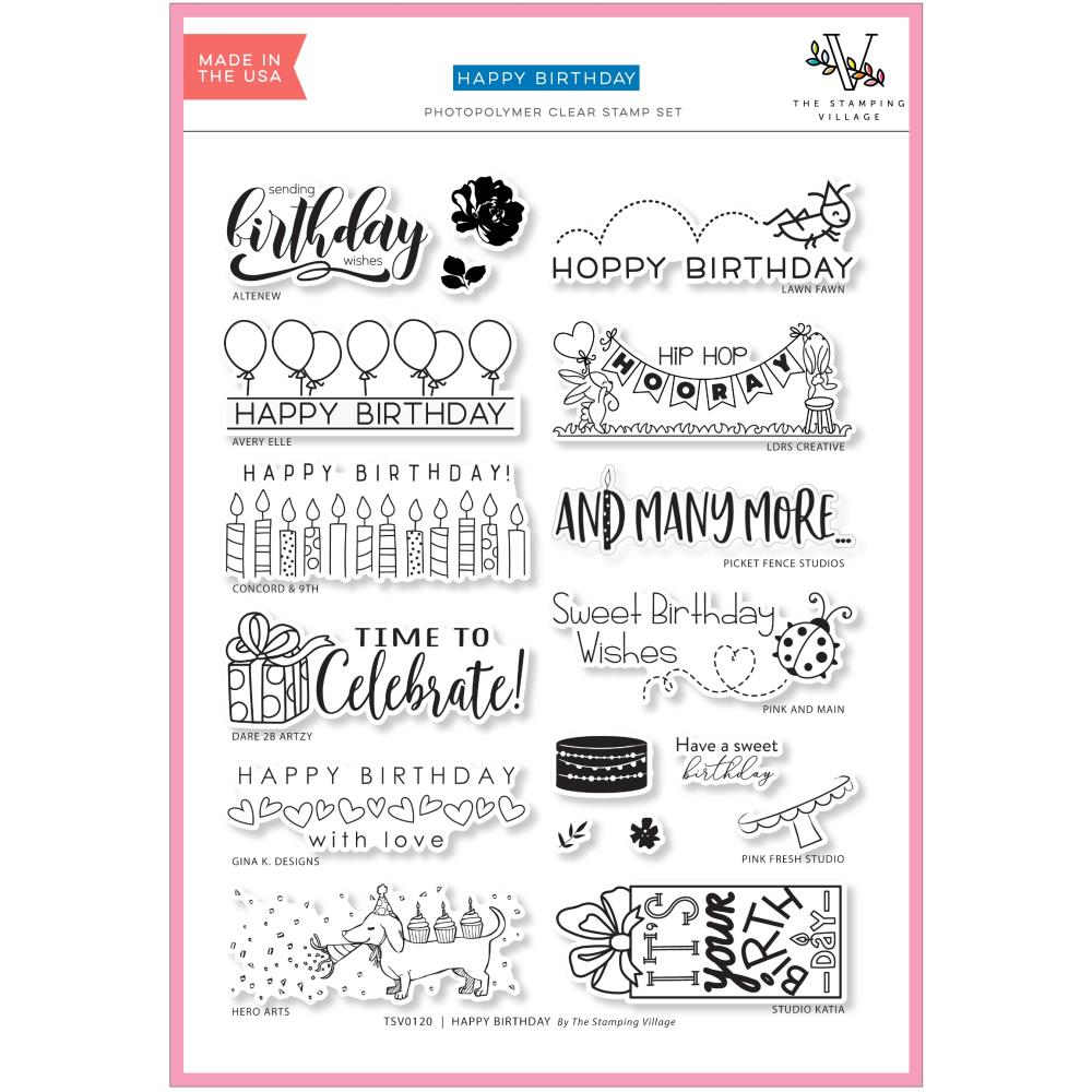 Stamping Village Clear Stamps 6X8 Happy Birthday