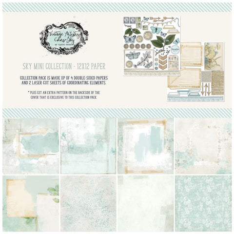 49 And Market Collection Pack 12in x 12in - Vintage Artistry Sky