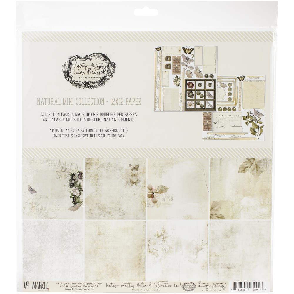 49 And Market Collection Pack 12X12 Vintage Artistry Natural