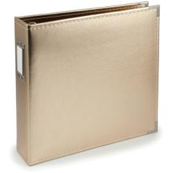 We R Classic Leather D-Ring Album 12X12 Gold