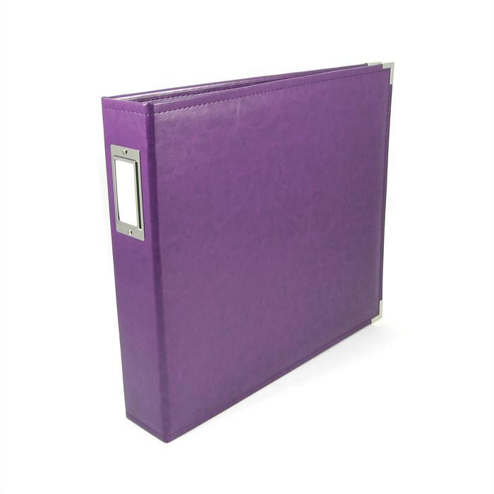 We R Classic Leather D-Ring Album 12 Inch X12 Inch Grape Soda