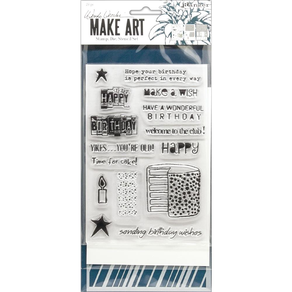 Wendy Vecchi Make Art Stamp, Die & Stencil Set Birthday Bash
