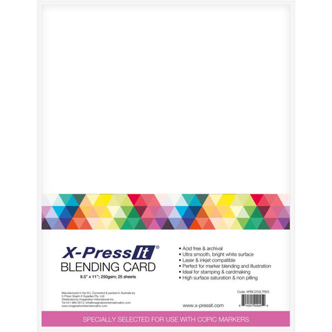 X-Press Blending Card 8.5X11 25/Pkg