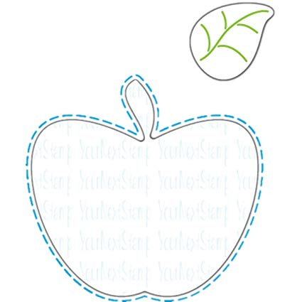 Your Next Stamp Die Large Stitched Apple