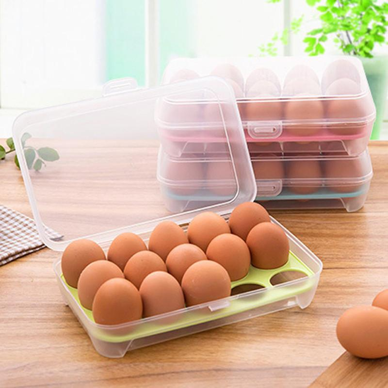 15 Grid Eggs Container