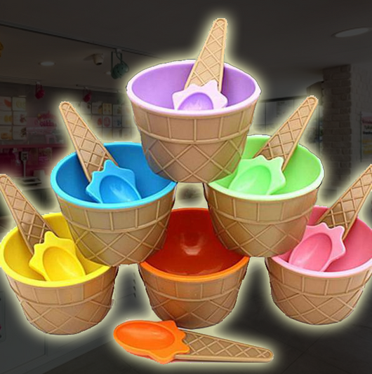 Rainbow Ice Cream Bowls (6 pieces/set)
