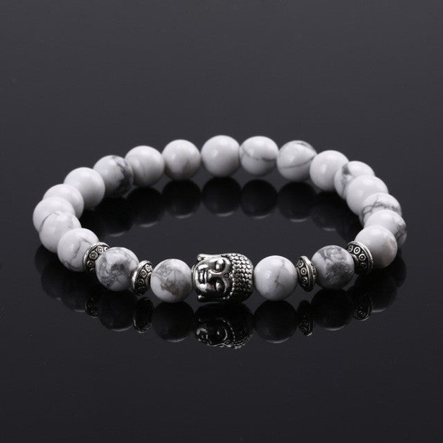 Natural stone Buddha beaded bracelet