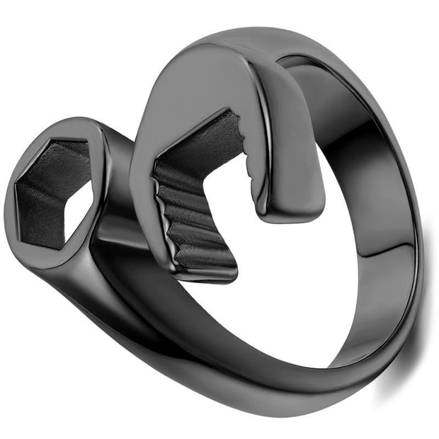 Stainless Steel Black Spanner Wrench Ring