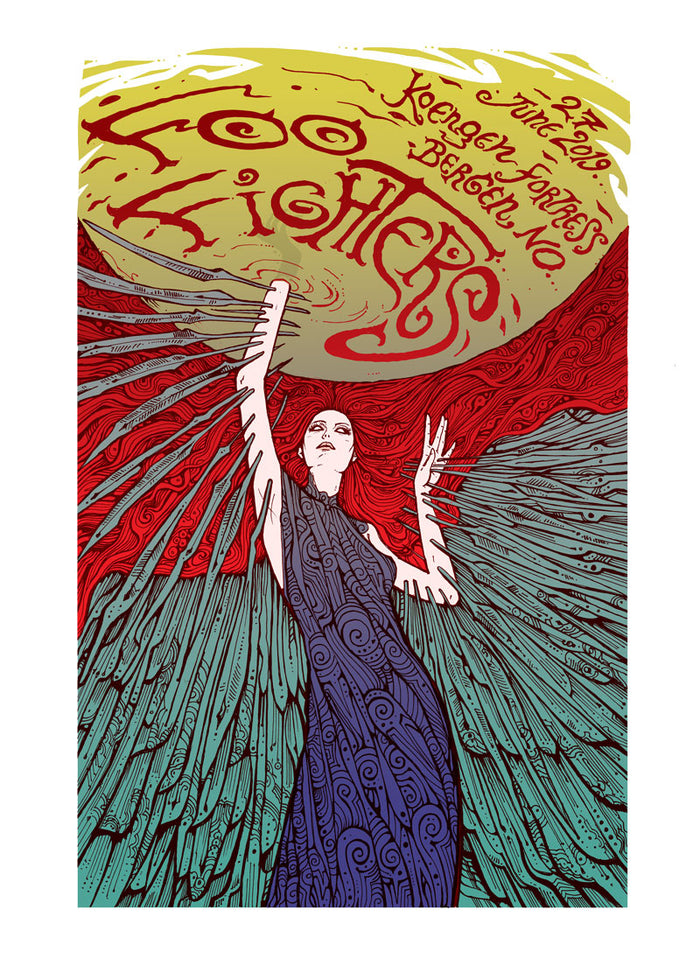 Bergen Event Poster - Foo Fighters UK