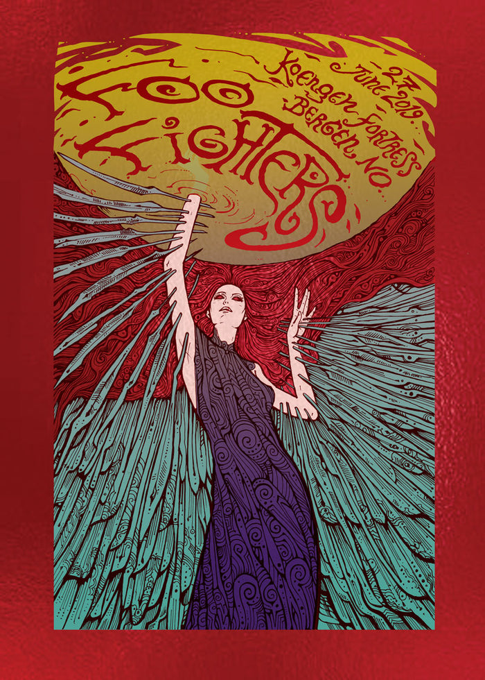 Bergen Foil Event Poster - Foo Fighters UK